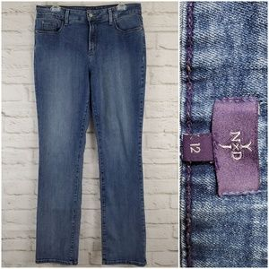 NYDJ Not Your Daughters Jeans Straight Stretch 12